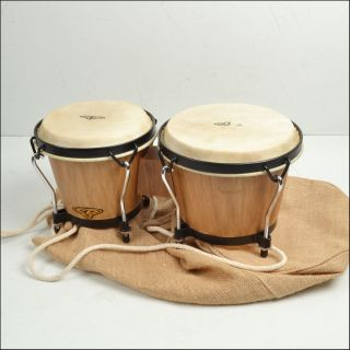 LP CP Traditional Hardwood Bongos Drums with Bag