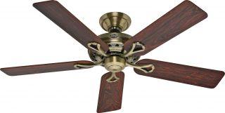 "Hunter 53105 Savoy Antique Brass Energy Star 52"" Ceiling Fan"