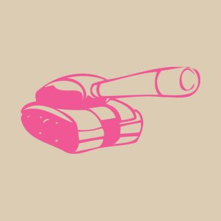 Cartoon Army Tank Vinyl Wall Art Boys Bedroom Sticker Decal Transfer DIY VE018