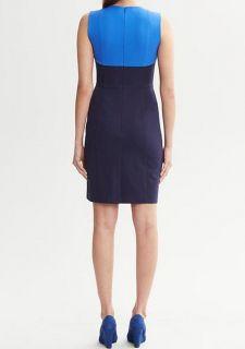 Banana Republic $140 Women Sloan Colorblock Dress Size 0P 2P 4P 6P 10P 12P