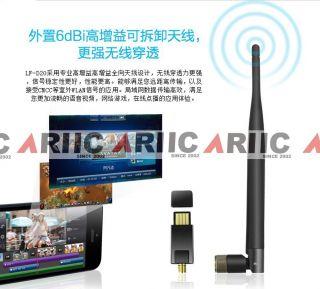New Lafalink LF D20 Mini Wireless WiFi USB Adapter Network Card 6dBi Antenna