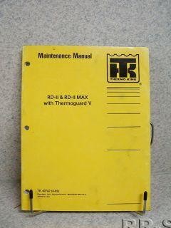 Thermo King RD II Max Thermoguard V Maintenance Manual