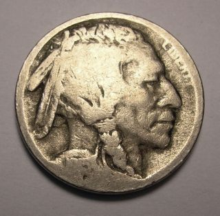1915 s Buffalo Nickel Nice Hole Filler with Clear Date and Mint Mark No Acid