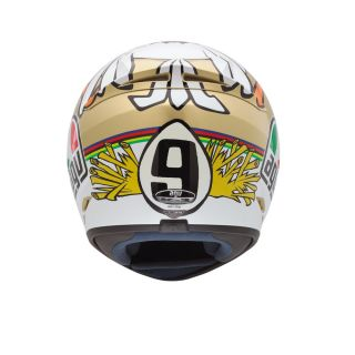 Agv K3 Valentino Rossi Chicken Helmet Full Face Street Motorcycle Gold White