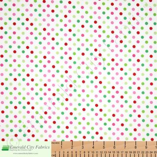 Riley Blake Christmas Candy Dots Multi Quilt Fabric Yd