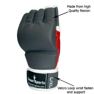 MMA Gloves Kick Boxing Fist Grappling Cage Rexion s M