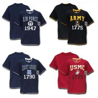 Tee Shirts Military Clothing Pitch Double Layered Army USMC Air Force T Shirts