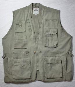 Multi Pocket Safari Outback Hunting Fishing Camping Hiking Vest sz 2X