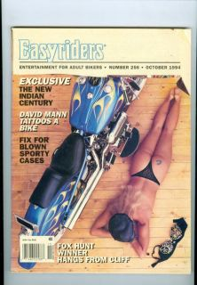 1994 Easyriders Magazine Fox Hunt Winner David Mann Tatoos A Bike Indian Cent