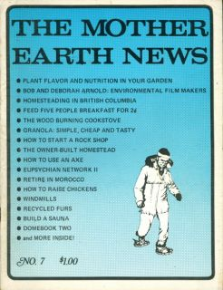 1971 The Mother Earth News Magazine 7 Snow Shoes Pic