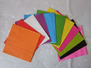 500 Plain Solid Colors Party Paper Napkins Beverage Cocktail Napkins Paper