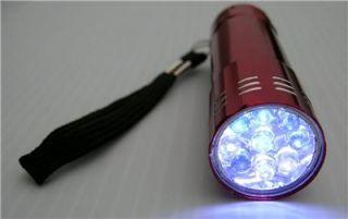 Wholesale Lot of 24 9 LED Flashlights Hunting Fishing Camping Batteries A 10