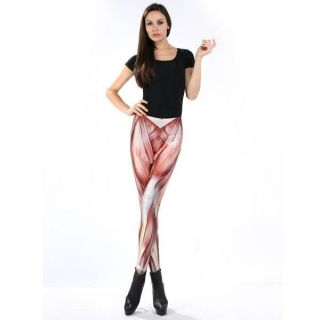 650531 Women's Galaxy Muscle Printing Leggings Elasticity Tights Pants YHF 0073