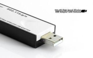 High Speed 802 11n Wireless WiFi USB Adapter Modem w Antenna for Laptop Sony PSP