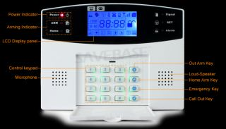Wireless GSM SMS Auto Dial Home Security System Auto Dial Alarm LCD Screen