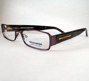 Skechers 2023 Black Women Eyeglass Eyewear Frames Glasses Designer New