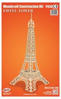 Eiffel Tower Paris 53cm Woodcraft Construction Kit 3D Wooden Model FSC