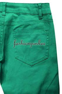 Mint Green NSP103 Skinny Jeans Moleton Colored Denim Stretch Jeggings Sizes 1 13