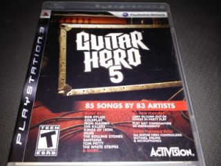 Sony PlayStation 3 Guitar Hero 5 Game PS3 Music Rock Band Simulator 85 Songs