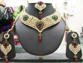 Indian Antique 1 Gram Gold Plated Grand Look 4pc Jewellery Navaratri Special