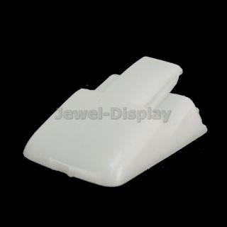 20 x White Ring Clips Jewellery Holder Display Risers