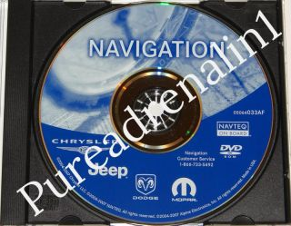 2004 2005 2006 2007 Chrysler 300C 300 Rec RB1 Navigation Map Disc CD DVD Update