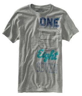 Aeropostale Mens Graphic Numbered Design T Shirt