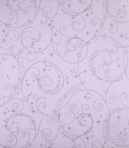 Purple Silver Glitter Wallpaper Disney DK5965 Swirl Scroll Girls Wallpaper