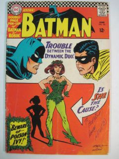 Batman 181 1966 DC 1st Appearance of Poison Ivy Signed by Carmine Infantino
