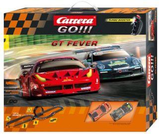 Carrera Go 1 43 62275 GT Fever Slot Car Race Track Racing Set New