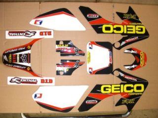 Honda CRF 50 Pit Bike SSR Pitster Geico Honda Graphics Kit Only