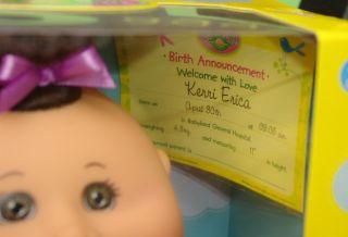 Cabbage Patch Kids CPK Newborns Baby Girl 30th Kerri Brunette 11 Inch