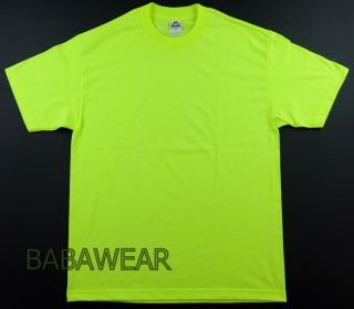 AAA High Visibility Neon Green Plain T Shirt Safety Baba
