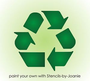 """Recycle Stencil 6"""" Symbol Go Green Eco Living Reuse Reduce U Paint Signs Bins"""