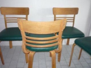 Vintage Mid Century Modern 4 Thonet Dining Chairs RARE Style Retro Eames Era