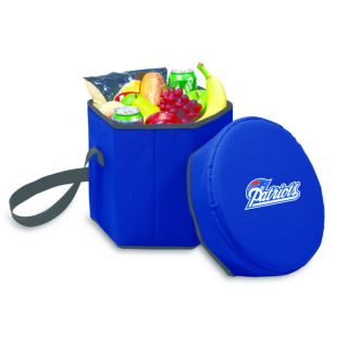 Bongo Collapsible Cooler Chair New England Patriots Navy from Brookstone