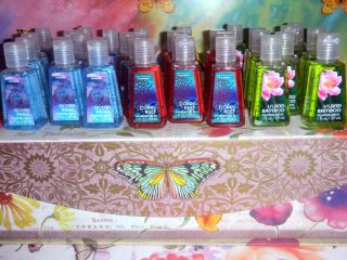 Bath Body Works PocketBac Summer 2013 Hand Sanitizers Lot of 10 Items List 1