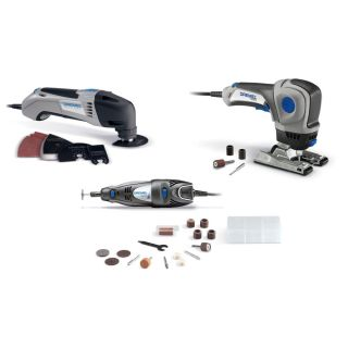 Dremel System 3 Pack Multi Max Trio 300 Series Rotrary Tools 25 Accessories Bag