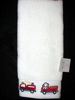 casaba 2 Hand Towels 1 Wash Cloth Set Fire Truck