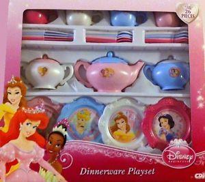 Disney Princess Dinnerware Playset Children 3 Toddler Girl Gift Toy Kids Fun New