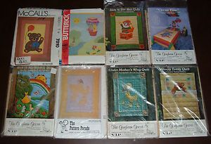 Lot 8 Baby Nursery Kids Room Quilt Patterns Teddy Bears Ducks Circus Toys Etc