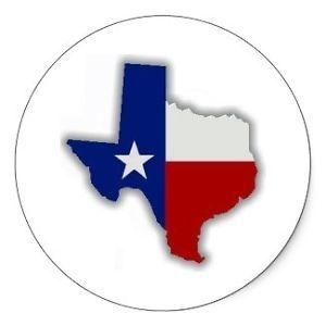 State of Texas Flag Sticker Decal Oilfield Hard Hat Sticker