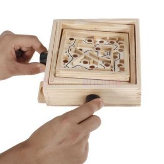 Funny Wooden Labyrinth Puzzle Moving Maze Game Kids' Creative Education Toys New