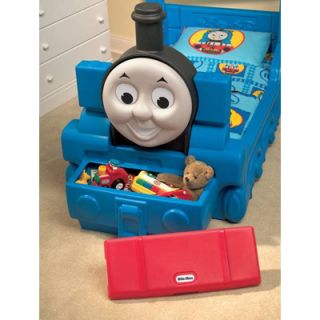 Details about Thomas Train Toddler Bed w/Storage Toy Box LMTD SALE