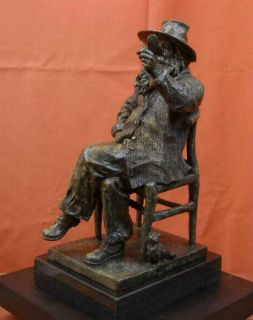 Walter Walt Whitman American Poet Poetry Bronze Sculpture Statue Chair Butterfly
