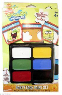 Spongebob Squarepants Face Paint Set Birthday Party Supplies Favors
