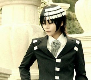 Soul Eater Death The Kid Short Black White Mix Anime Cosplay COS Party Wig Wig