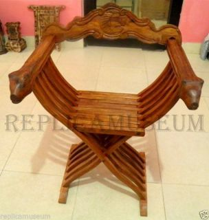 Medieval Sheesham Wood Hand Carved Chair Home Decor Interior Decoration Unique