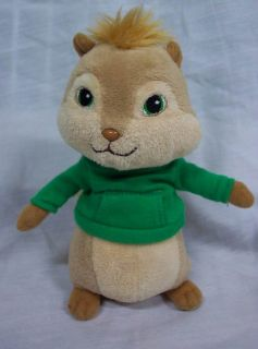 "Ty Beanie Baby Alvin and The Chipmunks Theodore 6"" Plush Stuffed Animal Toy"