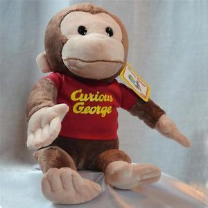 "New Curious George 12"" Stuffed Plush Monkey Toy by Gund Red Shirt"
